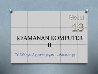 KEAMANAN KOMPUTER II