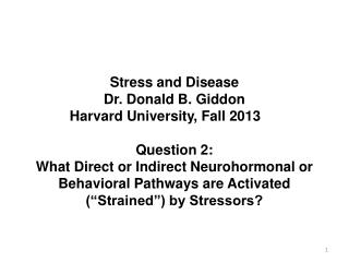 Overview of Stress and Disease