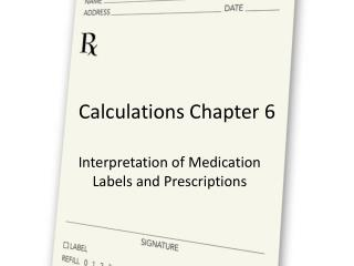 Calculations Chapter 6