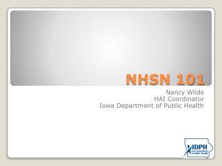 NHSN 101
