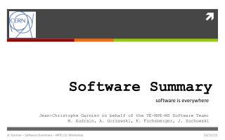 Software Summary