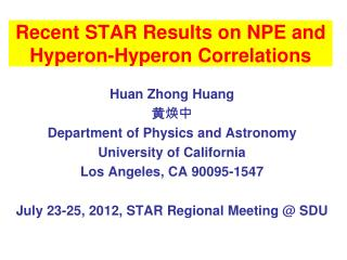 Recent STAR Results on NPE and  Hyperon-Hyperon  Correlations