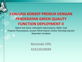 Renanda Ulfa 41612010049