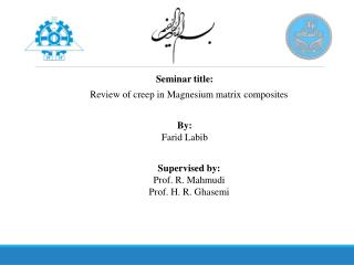 Review of creep in Magnesium matrix composites
