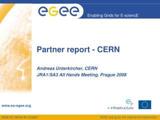 Partner report - CERN