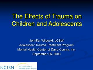 The Effects of Trauma on Children and Adolescents