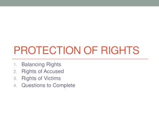 Protection of Rights