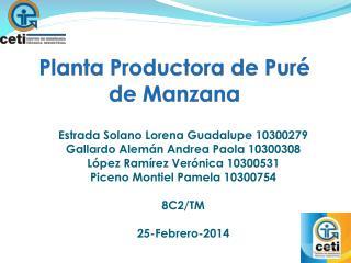 Planta Productora de Puré de Manzana