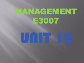 MANAGEMENT E3007