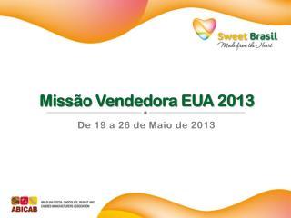 Missão Vendedora EUA 2013