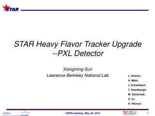 STAR Heavy Flavor Tracker Upgrade  --PXL Detector