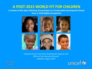 Children: The Center of Sustainable Development