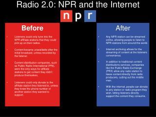 Radio 2.0: NPR and the Internet