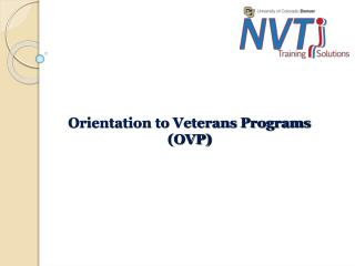 Orientation to Veterans Programs (OVP)