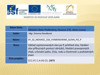 Datum vytvoření  : 10.02.2012