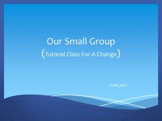Our Small Group ( Tutorial Class For A Change )