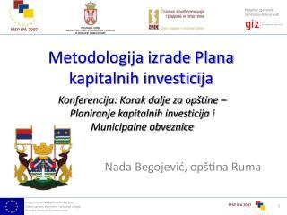 Metodologija izrade Plana kapitalnih investicija