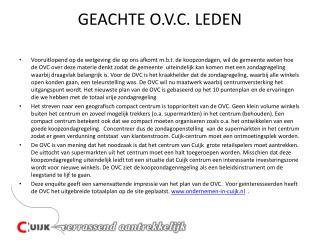 GEACHTE O.V.C. LEDEN