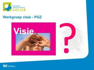 Werkgroep visie - PGZ