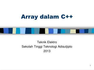 Array  dalam  C++