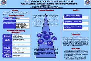 PGY-2  Pharmacy Informatics Residency at the VA: