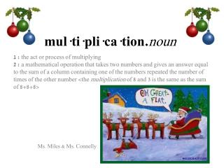 mul·ti·pli·ca·tion. noun