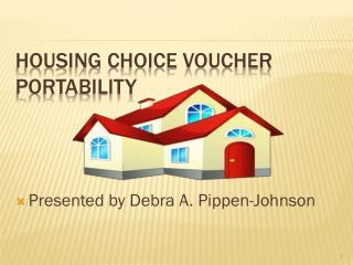 Housing Choice Voucher Portability