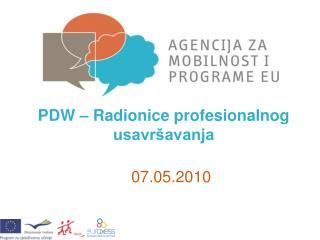 PDW  –  Radionice profesionalnog usavršavanja