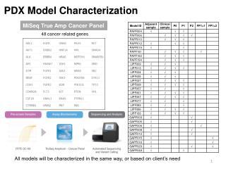 PDX  Model Characterization