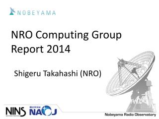 NRO Computing Group Report 2014