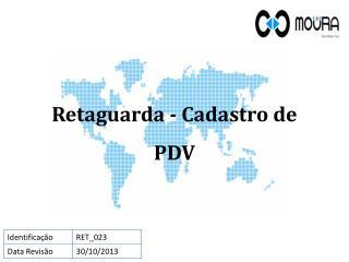 Retaguarda - Cadastro de PDV