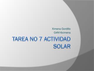 TAREA No 7 ACTIVIDAD SOLAR