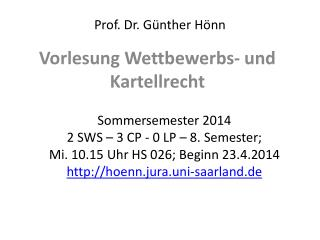 Prof. Dr. Günther Hönn