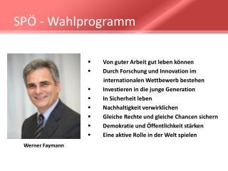 SPÖ -  Wahlprogramm