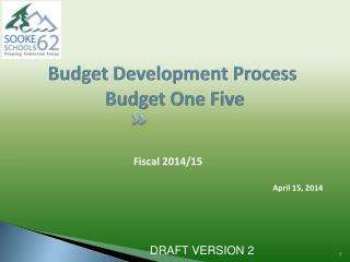 Budget Development Process   Budget One Five
