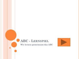 ABC - Lernspiel
