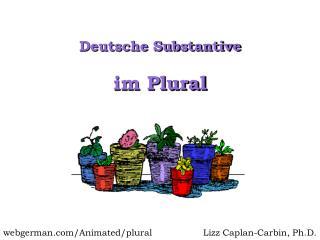 Im Plural