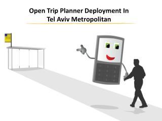 Open Trip Planner Deployment In Tel Aviv Metropolitan