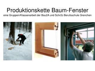 Produktionskette Baum-Fenster eine Gruppen