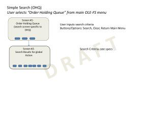 "Simple Search (OHQ) User selects ""Order Holding Queue"" from main OLE-FS menu"