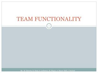 TEAM FUNCTIONALITY