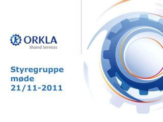 Styregruppe møde 21/11-2011