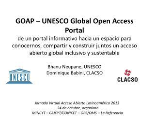 Jornada  Virtual Acceso Abierto Latinoamérica 2013 24 de  octubre, organizan