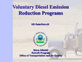 Voluntary Diesel Emission Reduction Programs