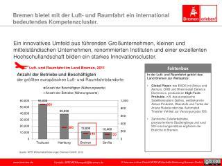 Bremen bietet mit der Luft- und Raumfahrt ein international bedeutendes Kompetenzcluster.
