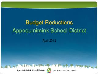 Budget Reductions Appoquinimink School District April 2012