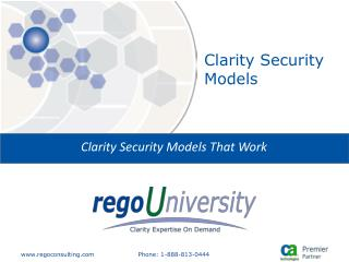 Clarity Security Models