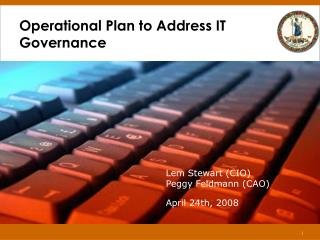 Operational Plan to Address IT Governance