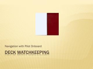 Deck  Watchkeeping