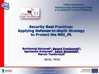 Security Best  Practices : Applying Defense-in-depth Strategy to Protect the NGI_PL